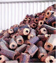 Extruded briquettes